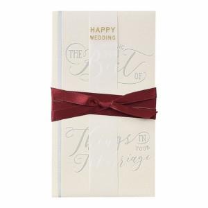 (まとめ買い)マルアイ 祝儀袋 結婚祝い A WORD ホワイト キ-W11 〔×5〕