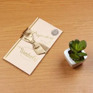 (まとめ買い)マルアイ 祝儀袋 結婚祝い A WORD アッシュピンク キ-W12 〔×5〕