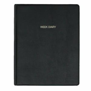 【送料無料】(まとめ買い)コレクト 手帳 2018年 ウィークダイアリー 見開き1週間 A4 黒 D-465 〔5冊セット〕