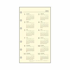 (まとめ買い)ダイゴー 手帳 2018年 システム手帳 バイブルサイズ6穴 1ヶ月ブロック ブラック K3931 〔3冊セット〕