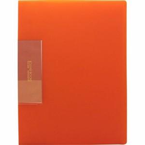 (まとめ買い)ビュートン スリムクリヤーブック オレンジ A4 20ポケット FCB-A4-20OR 〔10冊セット〕