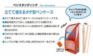 (まとめ買い)セキセイ フィンダッシュ 縦型ペンケース ペンスタンディング パンプキン FINN-7705-53 〔3個セット〕