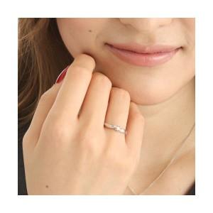 0.05ctピンクダイヤリング 指輪 ウェーブ 17号