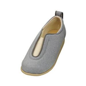 介護靴 施設・院内用 センターゴム2 1023 片足 徳武産業 あゆみシリーズ /5L (27.0〜27.5cm) グレー 左足