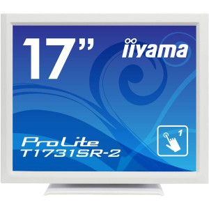 iiyama 17型液晶ディスプレイ ProLiteT1731SR-W2(抵抗膜方式タッチパネル、ホワイト) T1731SR-W2