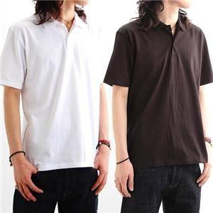 背中で語れる スカ柄ポロシャツ 2008・狐虎 黒 L (NP)