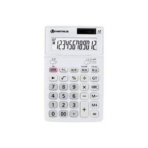 (業務用4セット)ジョインテックス 中型電卓 ホワイト K071J