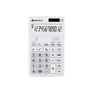 (業務用5セット)ジョインテックス 小型電卓 ホワイト K072J