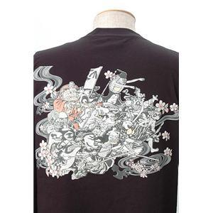 語れる立体和柄ロングTシャツ S-1966/桜百鬼夜行 LL(NP)