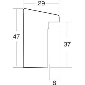 大額 木製 油額・仮縁 セットアップフレーム F130 ダークブラウン 〔10.6×205.6×7.9cm〕