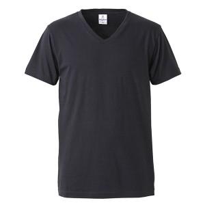 深すぎす浅すぎないVネックTシャツ2枚セット (ブラック+ブラック) L