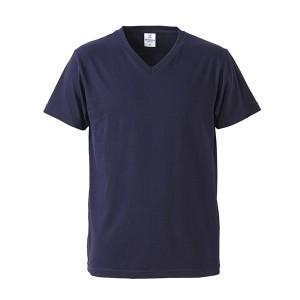 深すぎす浅すぎないVネックTシャツ2枚セット (ブラック+ネイビー) S