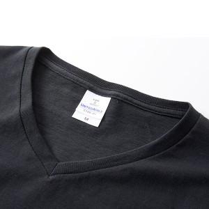 深すぎす浅すぎないVネックTシャツ2枚セット (ネイビー+ネイビー) M