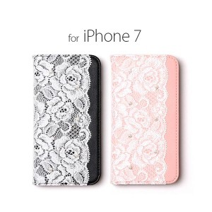 abbi iPhone7 Lace Diary ブラック