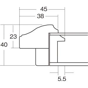 大額 油額 F15 アイボリー アクリル 〔63.2×76.5×5.7cm〕