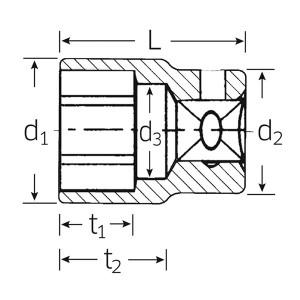STAHLWILLE(スタビレー) 52-34 (1/2SQ)ソケット (6角) (03030034)