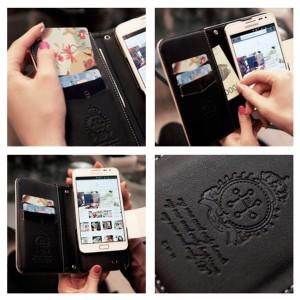 MrH(ミスターエイチ)スマホウォレットケース/オリエンタルポップビューティーレッドBy iphone6splus