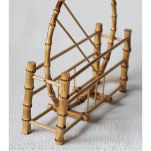 竹製 うちわ立て 満月