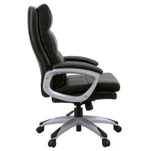 〔サンドラ〕オフィスチェア ワークチェア パソコンチェア ポケットコイル座面昇降付ハイバック ブラック