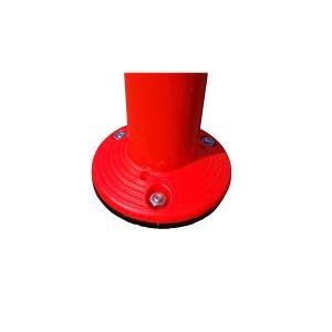 〔1本〕ポリウレタン製視線誘導標/ソフトコーン 〔接着タイプ〕 高さ1000mm 専用連結ボルト付属
