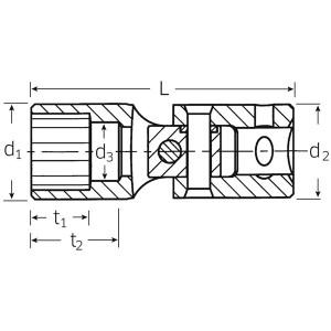 STAHLWILLE(スタビレー) 402-7 (1/4SQ)ユニフレックスソケット (01140007)