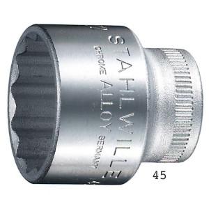 STAHLWILLE(スタビレー) 45-24 (3/8SQ)ソケット (12角) (02010024)