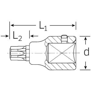 STAHLWILLE(スタビレー) 59TX-T90 (3/4SQ)ヘクスローブソケット (05100090)