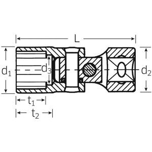STAHLWILLE(スタビレー) 47A-11/16 (3/8SQ)ユニフレックスソケット (02440038)