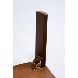 折りたたみテーブル/ローテーブル 〔長方形/幅75cm〕 ダークブラウン 木製 木目調