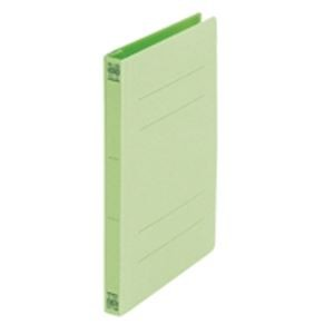 (業務用50セット) プラス フラットファイル/紙バインダー 〔A5/2穴 10冊入り〕 041N グリーン(緑) ×50セット