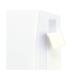 (まとめ) TANOSEE 窓付封筒 ワンタッチテープ付 長3 80g/m2 ホワイト 1パック(100枚) 〔×5セット〕