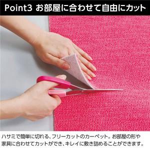 選べるはっ水抗菌防臭カラーカーペット モスグリーン 江戸間2畳