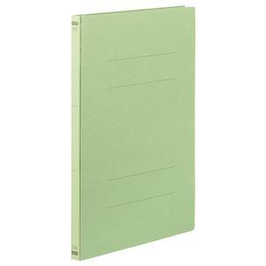 (まとめ) TANOSEE フラットファイル(NS) A4タテ 150枚収容 背幅18mm 緑 1パック(3冊) 〔×40セット〕