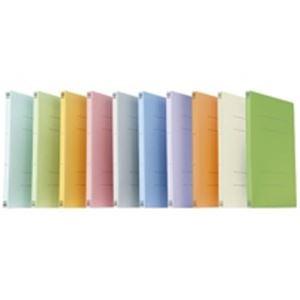 (業務用5セット) プラス フラットファイル/紙バインダー 〔A4/2穴 100冊〕 021N リーフグリーン