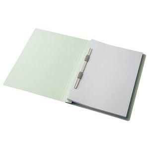 (まとめ) TANOSEE フラットファイル(スタンダードカラー) A4タテ 150枚収容 背幅18mm コバルトブルー 1パック(10冊) 〔×10セット〕