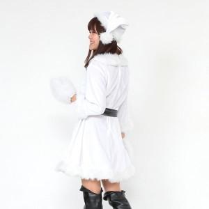 帽子&ベルト&手袋セット 〔Peach×Peach  ラブリーサンタクロース ホワイト(白) ワンピース Lサイズ〕
