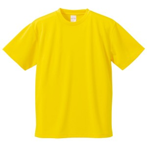 UVカット・吸汗速乾・5枚セット・4.1オンスさらさらドライ Tシャツ カナリア イエロー 160cm