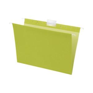 (まとめ) TANOSEE ハンギングフォルダー A4 グリーン 1パック(5冊) 〔×10セット〕