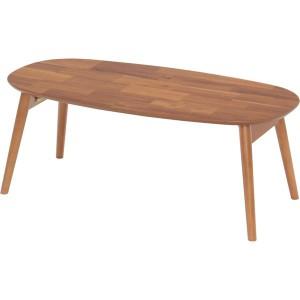 折りたたみテーブル(ローテーブル/コーヒーテーブル) ブリッキー 木製 幅90cm 〔完成品〕