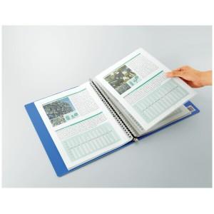 (まとめ)コクヨ クリヤーブック A4縦 替紙式18枚ポケット30穴 青 ラ-320B 〔まとめ買い×3セット〕