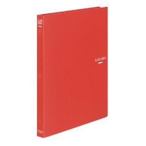 (まとめ)コクヨ クリヤーブック A4縦 替紙式18枚ポケット30穴 赤 ラ-320R 〔まとめ買い×3セット〕