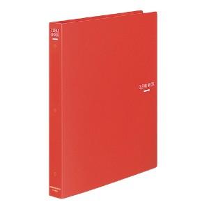 (まとめ)コクヨ クリヤーブック A4縦 替紙式23枚ポケット30穴 赤 ラ-460R 〔まとめ買い×3セット〕