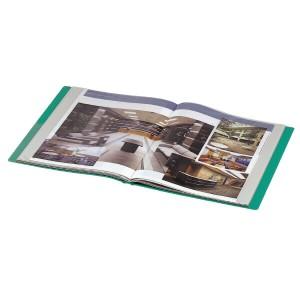 (まとめ買い)コクヨ クリヤーブック サイドスロータイプ A4縦 固定式20枚ポケット 緑 ラ-820G 〔3冊セット〕