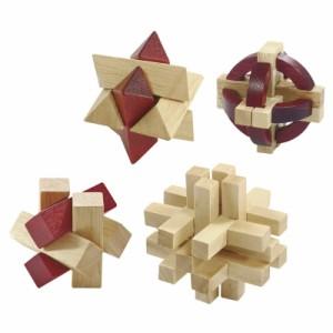 〔ギフト〕大人の木製パズル 4点