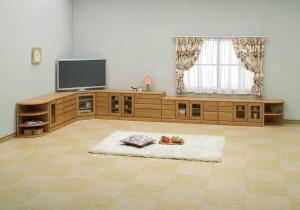 オープンエンド/オープンシェルフ 〔幅43cm〕 木製(天然木) 日本製 ブラウン 〔完成品〕