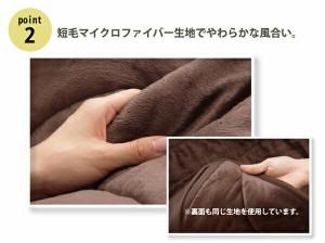 洗える こたつ布団 長方形特大 ダイニング用 『フィーラ ハイタイプ』 ブラウン 235×295cm