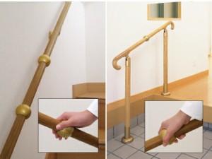 〔10個セット〕階段手すり滑り止め 『どこでもグリップ』たまご形 軟質樹脂 直径32mm コーラル シロクマ 日本製