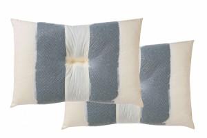 ピロー 国産竹炭パイプ入り 『竹炭リバーシブル枕』 2個組 約43×63cm リバーシブルタイプ
