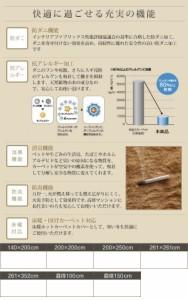 防ダニ・消臭・防炎・抗アレルギー機能付きフェイクファーラグ〔Rojye〕ロジェ 200×250cm アイボリー