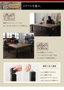 古木風 ヴィンテージデザイン こたつテーブル 〔Nostalwood〕ノスタルウッド 長方形(75×105cm) ヴィンテージウッド